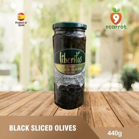 Black sliced olives 440g